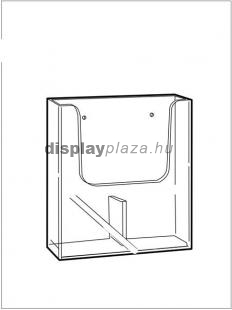 CLEARLINE 2XLA4/F fali szórólaptartó, 2x1/3 A4 (felezett A4)
