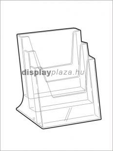 CLEARLINE 3XA5/A asztali szórólaptartó, 3xA5