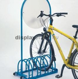 RW 5454 kétoldalas kerékpártároló kör alakú reklámtáblával