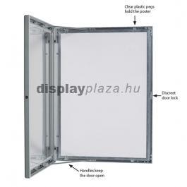 UNIVERSAL plakáttartó vitrin 27 mm